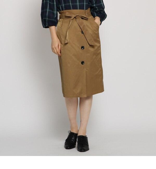 【AG バイアクアガール/AG by aquagirl】 クリアツイルサイドボタンスカート