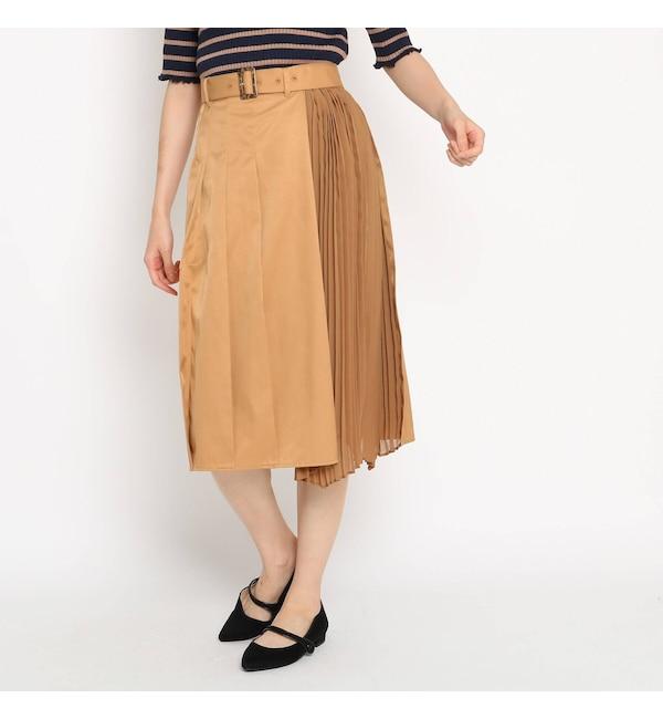 【AG バイアクアガール/AG by aquagirl】 サイドプリーツクリアツイルスカート