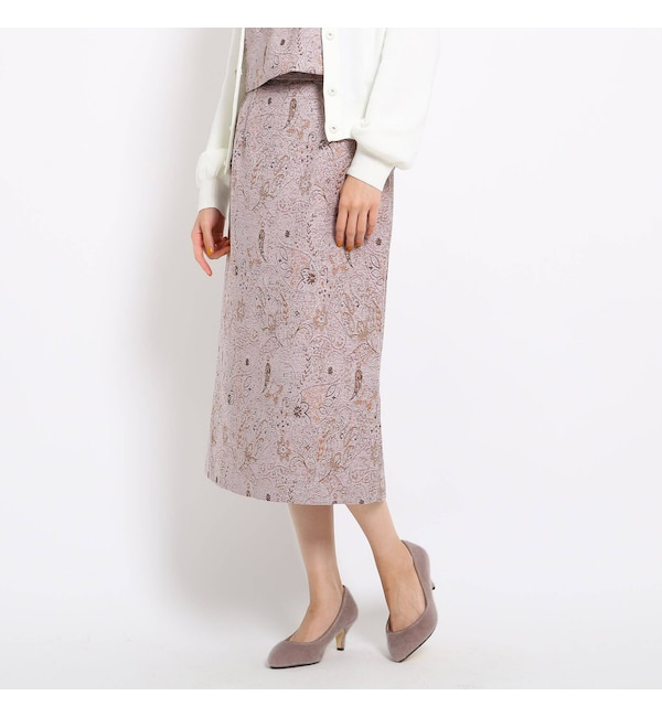 【AG バイアクアガール/AG by aquagirl】 【Lサイズあり】ペイズリージャカードスカート