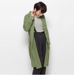 【ジ・エンポリアム/THE EMPORIUM】 綿麻スリットロングシャツ [送料無料]