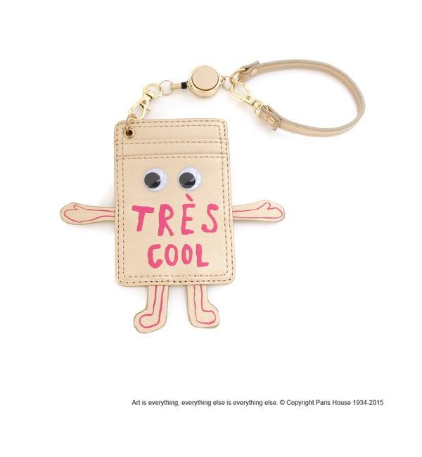 【オペークドットクリップ/OPAQUE.CLIP】 PARIS HOUSE コラボ リール付きパスケース [送料無料]
