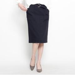 【オペークドットクリップ/OPAQUE.CLIP】 トラッドテイストボックスタイトスカート [送料無料]
