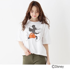 【オペークドットクリップ/OPAQUE.CLIP】 ビッグシルエットTシャツ(ミッキーマウス) [送料無料]