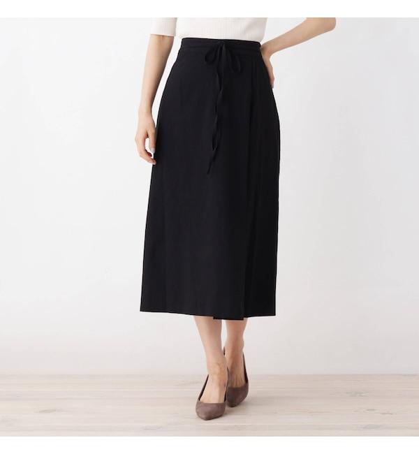【オペークドットクリップ/OPAQUE.CLIP】 【42(LL)WEB限定サイズ】ラップナロースカート
