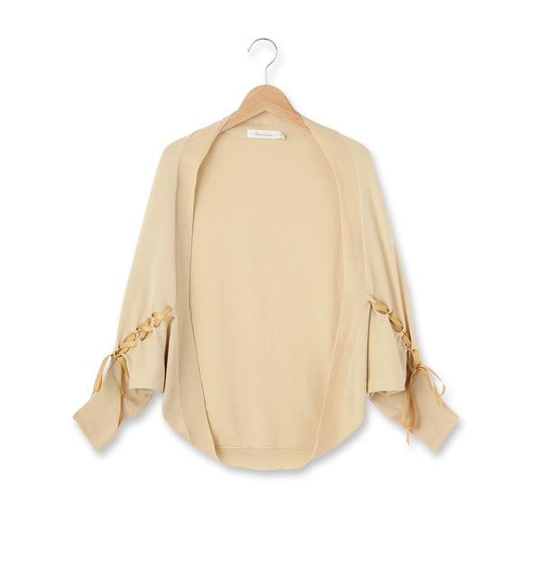【クチュール ブローチ/Couture brooch】 リボンドルマンニットカーディガン [3000円(税込)以上で送料無料]