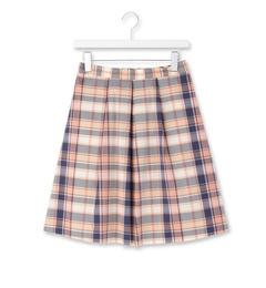【クチュール ブローチ/Couture brooch】 マドラスチェックフレアスカート [3000円(税込)以上で送料無料]