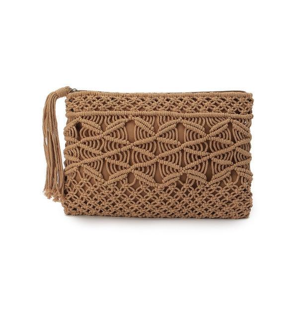 【クチュール ブローチ/Couture brooch】 マクラメクラッチバッグ [3000円(税込)以上で送料無料]