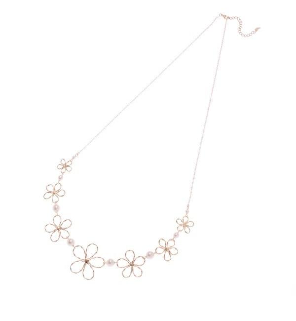 【クチュール ブローチ/Couture brooch】 フラワーモチーフネックレス [3000円(税込)以上で送料無料]