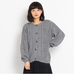 【クチュール ブローチ/Couture brooch】 Yarn by COFIL アランケーブルニットカーディガン [送料無料]