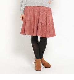 【クチュール ブローチ/Couture brooch】 グレンチェックスカート [送料無料]