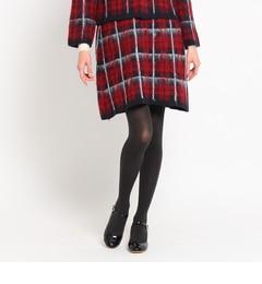 【クチュール ブローチ/Couture brooch】 起毛チェックスカート [送料無料]