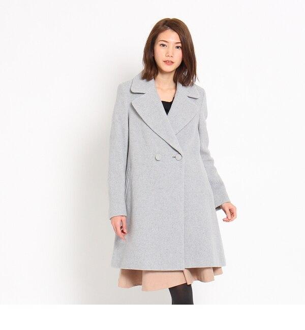 【クチュール ブローチ/Couture brooch】 テーラードAラインコート [送料無料]