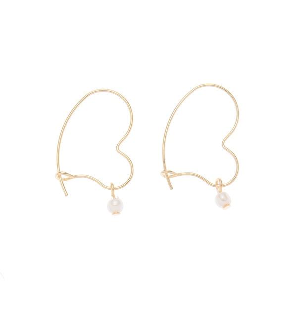 【クチュール ブローチ/Couture brooch】 ハートフープピアス [3000円(税込)以上で送料無料]