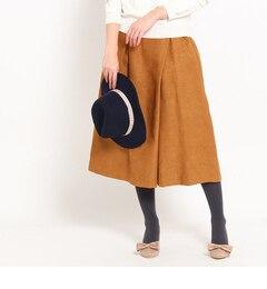 【クチュール ブローチ/Couture brooch】 スエード調タックガウチョ [3000円(税込)以上で送料無料]