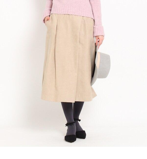 【クチュール ブローチ/Couture brooch】 スエード調タックガウチョ [送料無料]