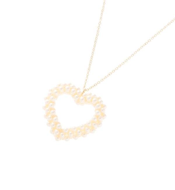 【クチュール ブローチ/Couture brooch】 パールハートネックレス [3000円(税込)以上で送料無料]