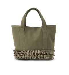 【クチュール ブローチ/Couture brooch】 フリルキャンバスバッグ [送料無料]
