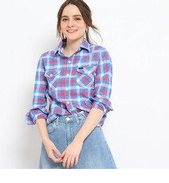 【クチュール ブローチ/Couture brooch】 Lee チェック柄コットンシャツ [送料無料]