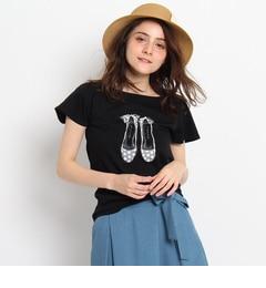 【クチュール ブローチ/Couture brooch】 アニマル柄バレエシューズTシャツ [送料無料]