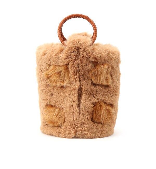【クチュール ブローチ/Couture brooch】 【WEB限定販売】[2WAY]ラウンドハンドルファーバッグ
