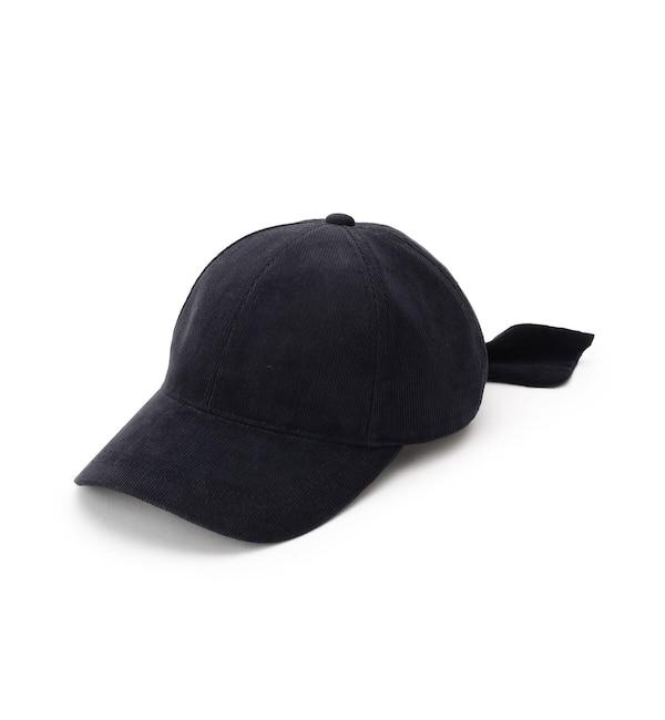 【クチュール ブローチ/Couture brooch】 バックリボンコーデュロイキャップ