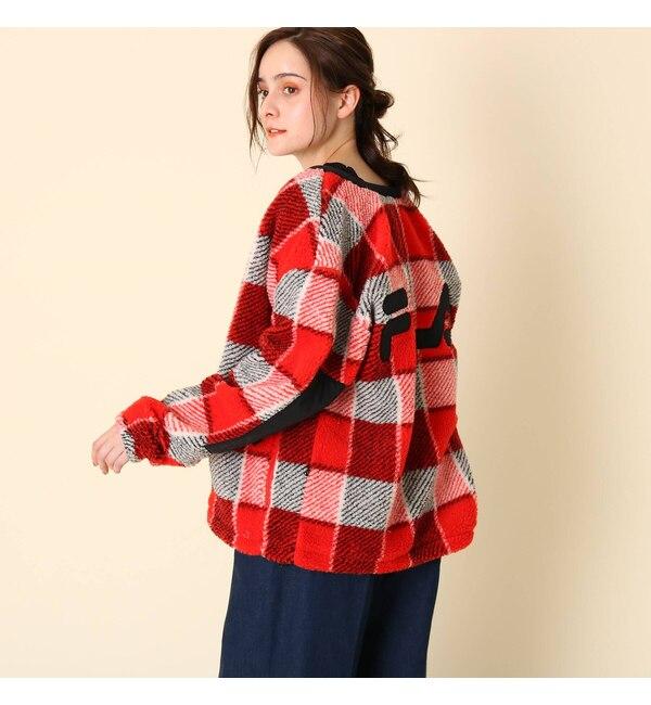 【クチュール ブローチ/Couture brooch】 【WEB限定販売】FILA(フィラ)ジップアップチェックボアブルゾン