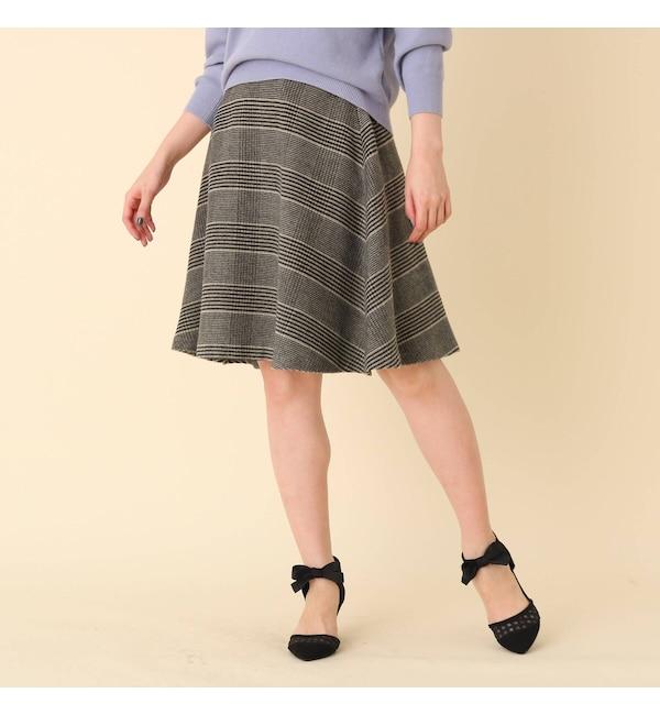 【クチュール ブローチ/Couture brooch】 シャギーチェックフレアスカート