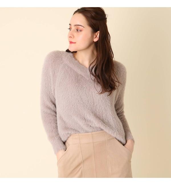 【クチュール ブローチ/Couture brooch】 シャギーニットプルオーバー