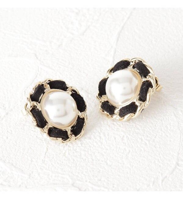 【クチュール ブローチ/Couture brooch】 パール調フラワーピアス