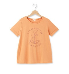 【ハッシュアッシュ/HusHusH】 かすれプリントラウンドネックTシャツ [3000円(税込)以上で送料無料]