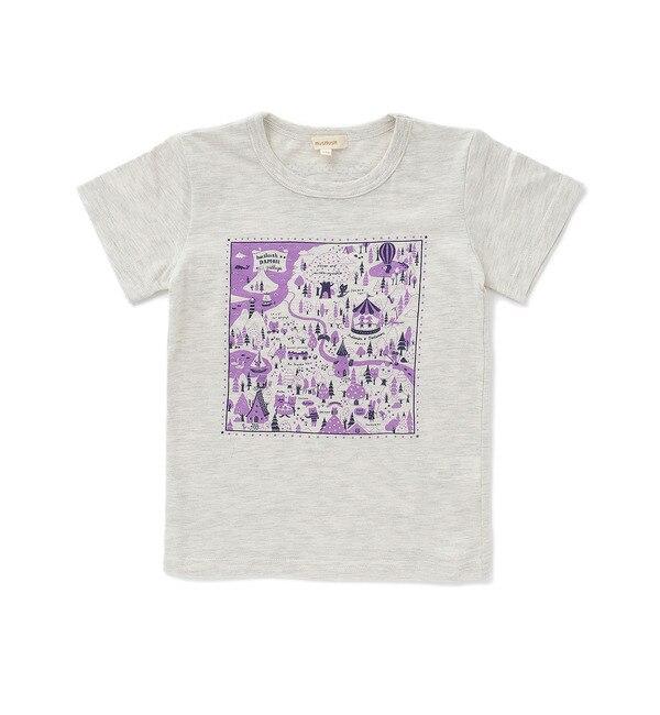 【ハッシュアッシュ/HusHusH】 ダモンマッププリントTシャツ [3000円(税込)以上で送料無料]