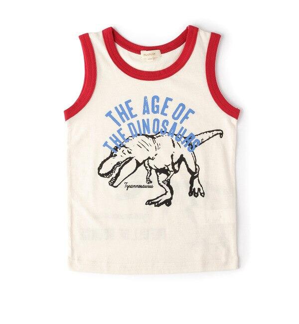 【ハッシュアッシュ/HusHusH】 吸水速乾恐竜プリントタンクトップ [3000円(税込)以上で送料無料]