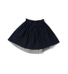 【ハッシュアッシュ/HusHusH】速乾リボンギャザースカート[3000円(税込)以上で送料無料]
