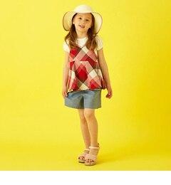 <アイルミネ> 【3点SET】キャミソール+Tシャツ+キュロットスカート [3000円(税込)以上で送料無料]画像