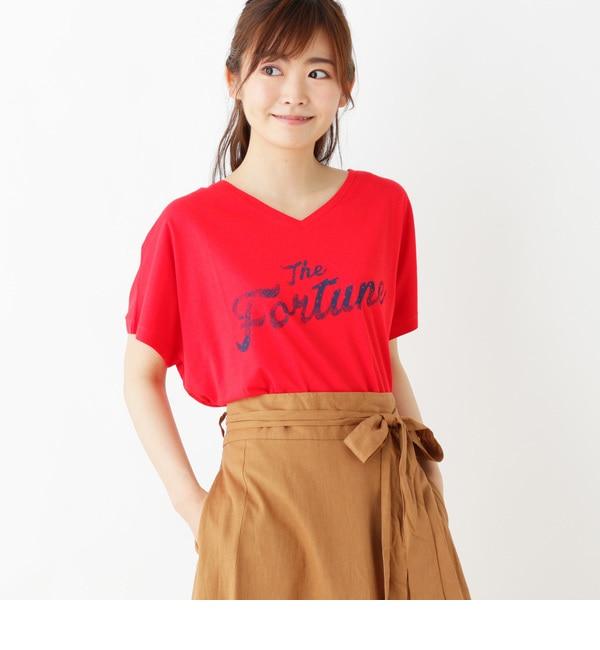 <アイルミネ> ペイズリーロゴTシャツ