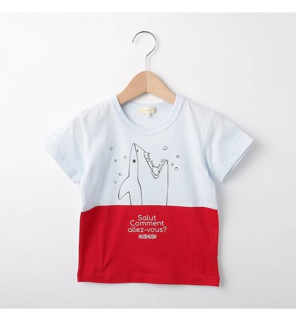 【ハッシュアッシュ/HusHusH】 【80-140cm】サメTシャツ