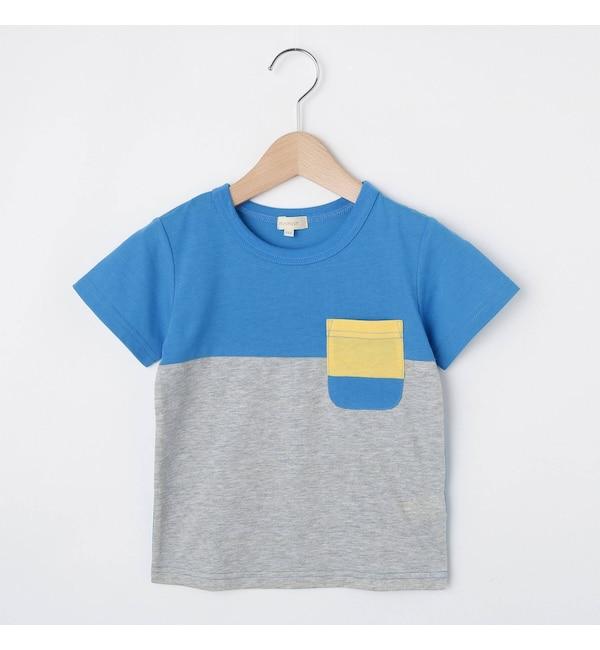 【ハッシュアッシュ/HusHusH】 【90-150cm】吸水速乾/カラーブロッキングTシャツ