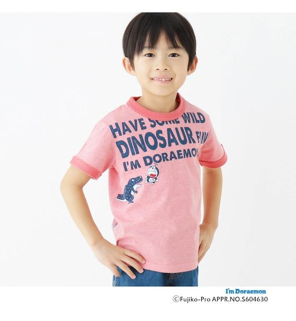 【ハッシュアッシュ/HusHusH】 【ドラえもん】ドラ恐竜Tシャツ