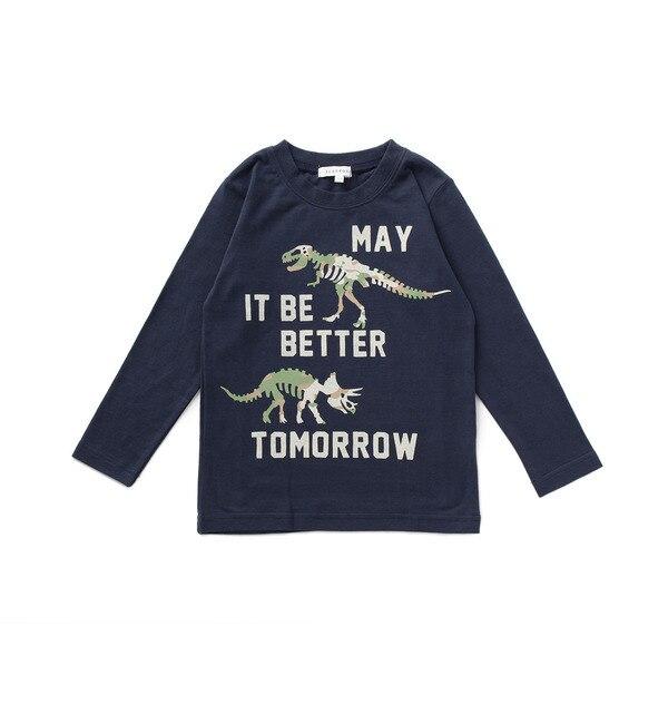 【サンカンシオン/3can4on】 恐竜カモフラ長袖Tシャツ [3000円(税込)以上で送料無料]