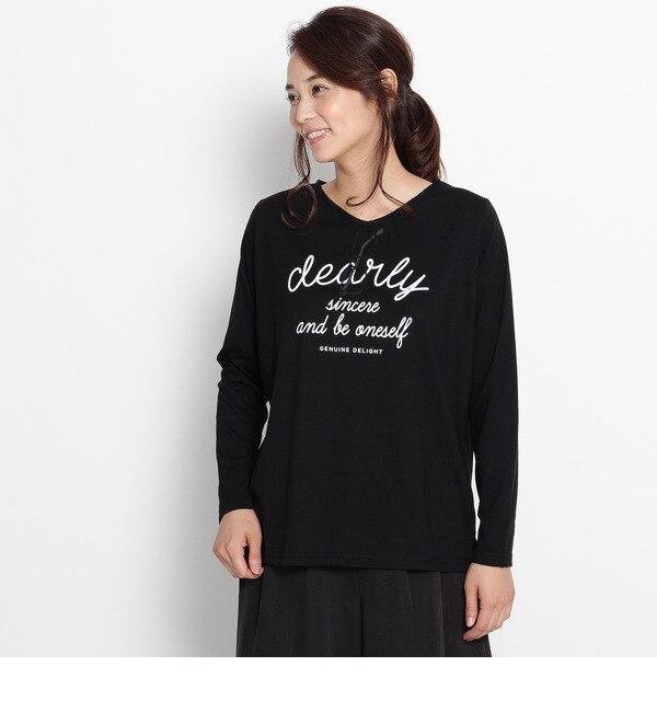 【サンカンシオン/3can4on】 めがね長袖Tシャツ [3000円(税込)以上で送料無料]