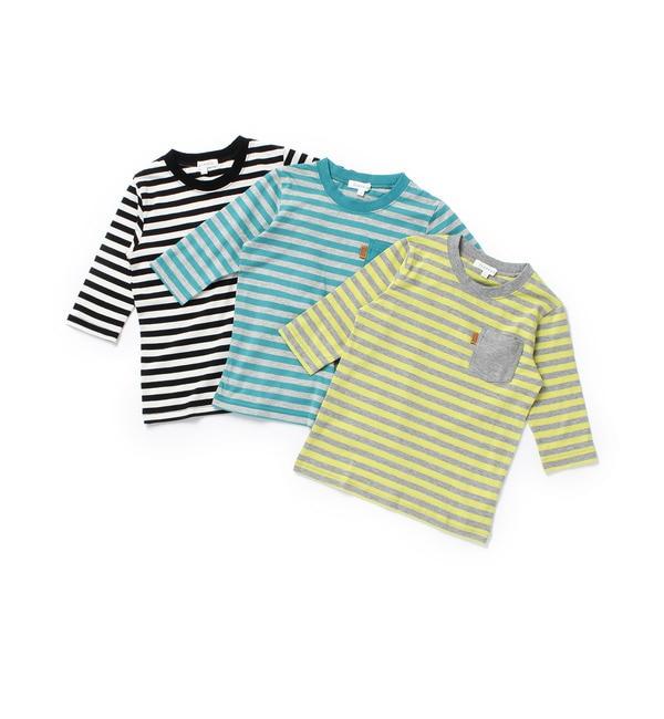 【サンカンシオン/3can4on】 【数量限定お得なボーダー3枚セット】七分袖Tシャツ [送料無料]