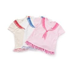 【サンカンシオン/3can4on】 【WEB限定/お得なセット商品】ボーダードッキングセーラーカラーTシャツ(3枚セット) [送料無料]
