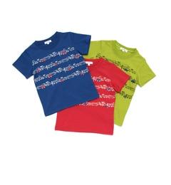 【サンカンシオン/3can4on】 【WEB限定】 トラフィックプリントTシャツ3枚セット [送料無料]