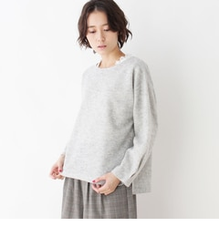 【サンカンシオン/3can4on】 【SET商品】起毛プルオーバー+レース長袖Tシャツ [送料無料]