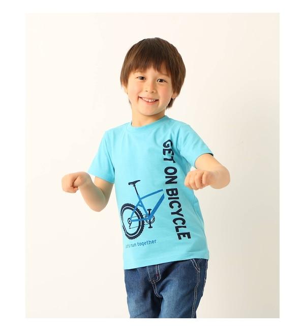 【サンカンシオン/3can4on】 【90cm?150cm】自転車&ロゴプリントTシャツ