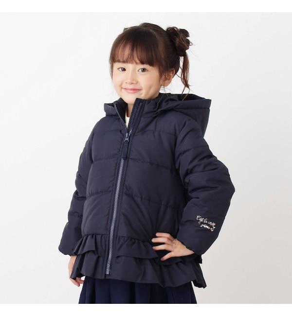 【サンカンシオン/3can4on】 【90-140cm】裾フリル中綿ブルゾン