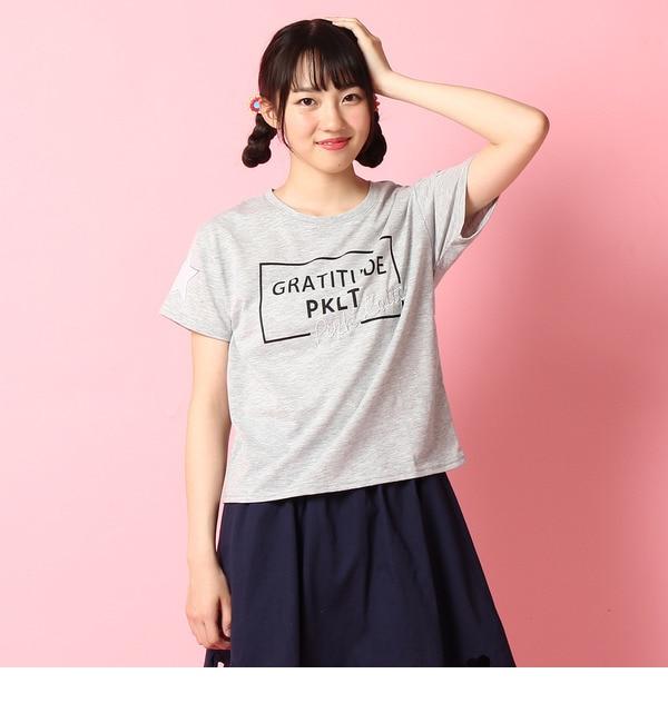 【ピンクラテ/PINK?Latte】 ロゴプリントスターTシャツ [3000円(税込)以上で送料無料]