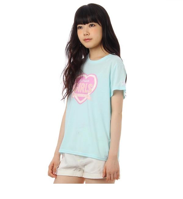 【ピンクラテ/PINK?Latte】 キラキラハートTシャツ [3000円(税込)以上で送料無料]