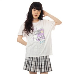 【ピンクラテ/PINK?Latte】 ローラースケートTシャツ [3000円(税込)以上で送料無料]