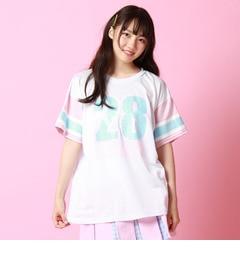 【ピンクラテ/PINK?Latte】 spinnsコラボメッシュTシャツ [3000円(税込)以上で送料無料]